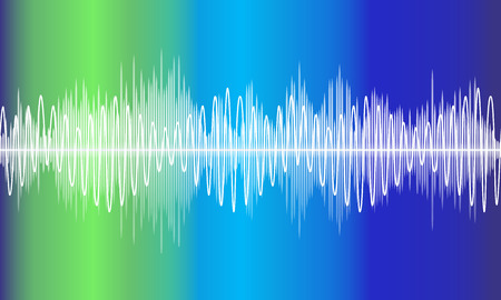 analyzer: Vector music volume abstract background
