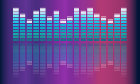 Vector Musiklautstärke abstrakten Hintergrund Standard-Bild - 44864632