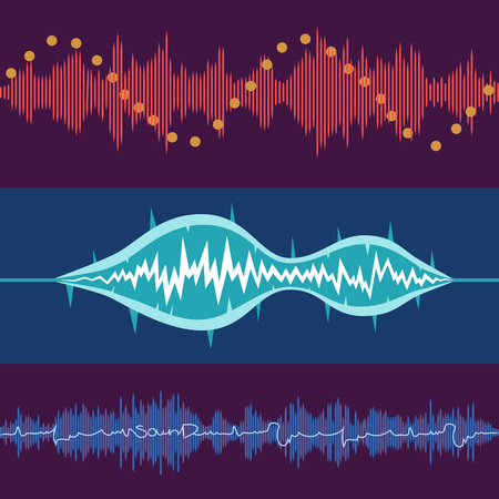 vibrations: Vector music volume abstract background set