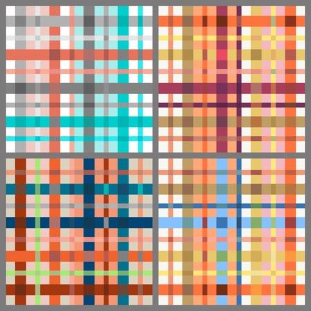 magenta: Set of seamless tartan patterns