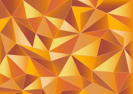 crystallization: Abstract orange triangles background