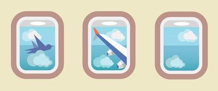 finestra: Aerei di Windows, finestre aerei Vettoriali