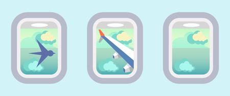 aereo: Aerei di Windows, finestre aerei Vettoriali