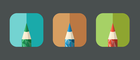 pensil: Pensil icon made from triangular faces