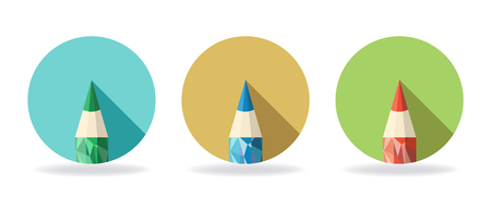 high volume: Pencil icon made from triangular faces