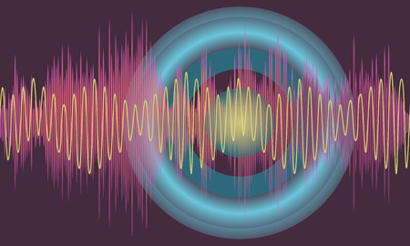 vibrations: Vector music volume abstract background