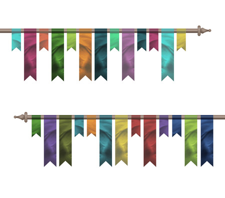 Colored silk flags background