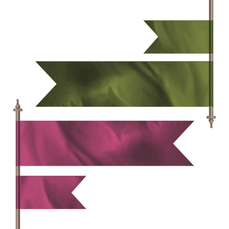 keystone: Green and pink flags Illustration