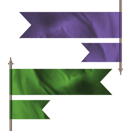 tuck: Purple and green flags