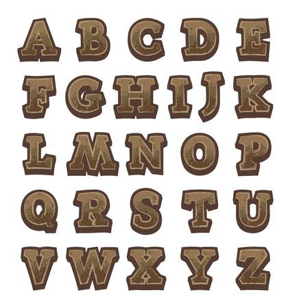 brown: Brown stone game alphabet