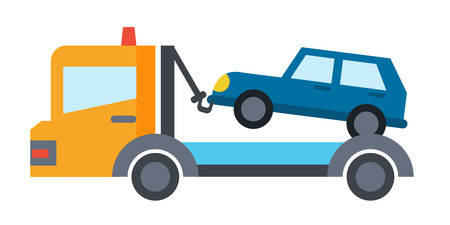 breakdown truck: Vector car service flat icons. Vehicle maintenance and repair Illustration