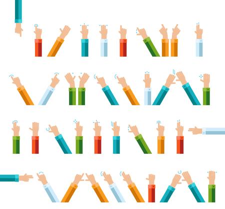 Outline hand vinger gebaar vector icon set