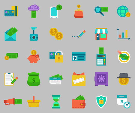 package icon: banking Icons set.