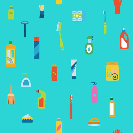 dishwashing liquid: Endless flat hygiene and cleaning background.