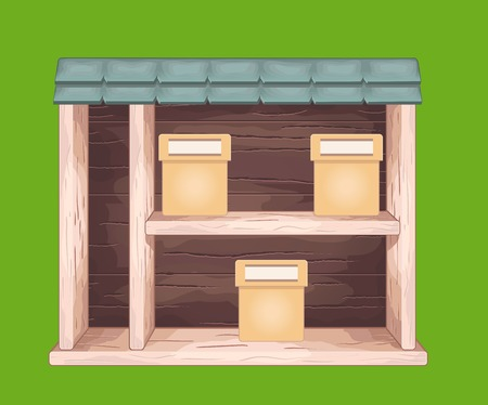 Game wooden store window