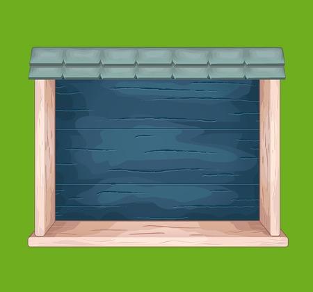 sideboard: Game wooden shelf window