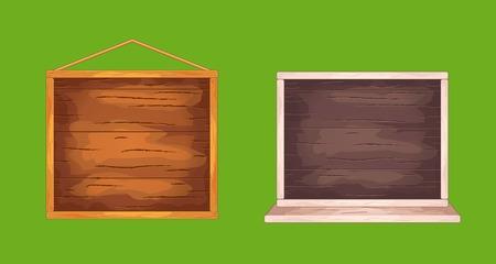 Wooden desks for game interface