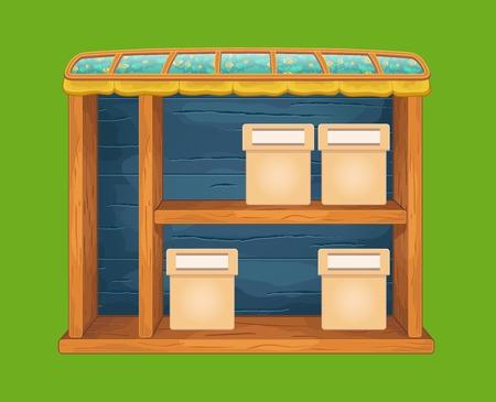 sideboard: Game wooden store window