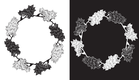 Set of floral silhouettes