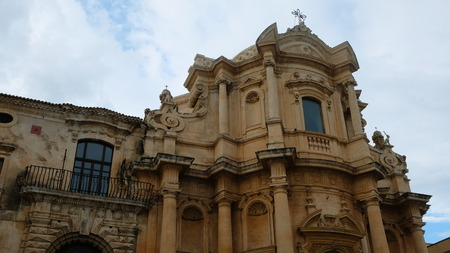 City of Noto. Province of Syracuse, Sicily. This is the facade of San Domenico church, design and built by architect Rosario Gagliardi, between 1703 and 1727. It´s one of the most beautiful example