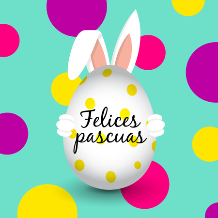Easter Bunny - Easter Egg - Happy Easter (Spanish)