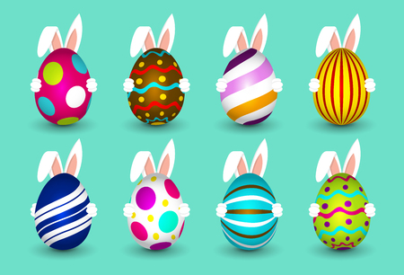 Easter Eggs - Easter Bunny - Deliver Eggs - Happy Easter