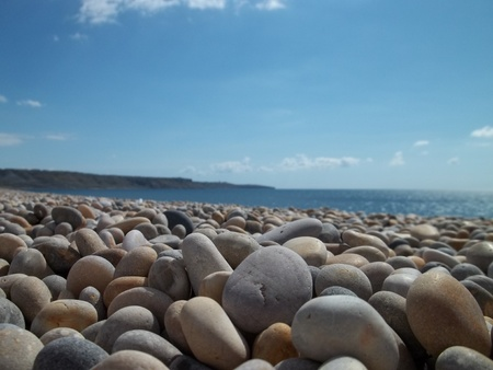 pebble: Pebble beach in the summer