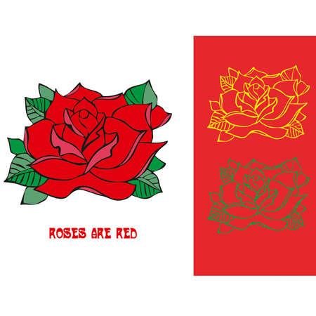 classical tattoo rose Vector