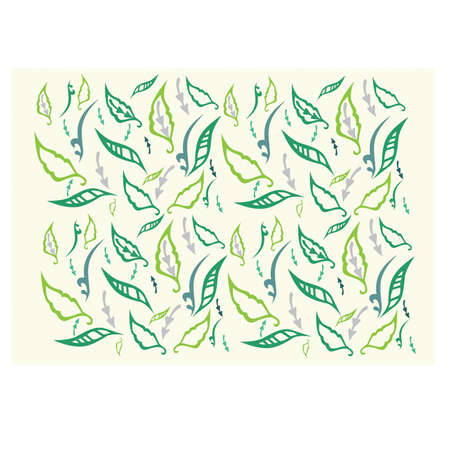 Floral background with different colours leaves
