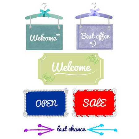 Sea style signboard and pastel coloure signboard