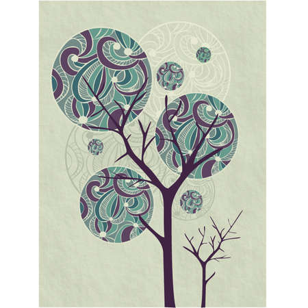 trees background with ornamental crown