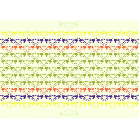 pastel colours floral background Illustration