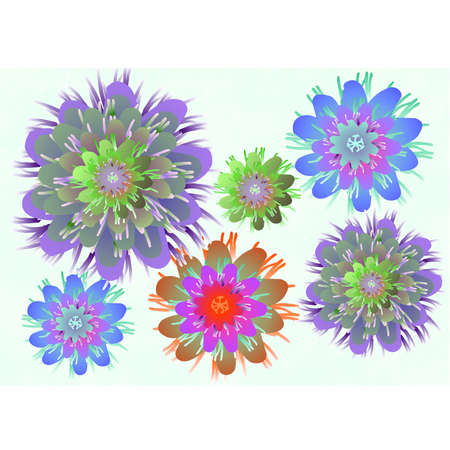 exotic style flowers on  background