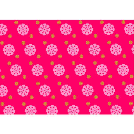 circle ornament background in pink colour