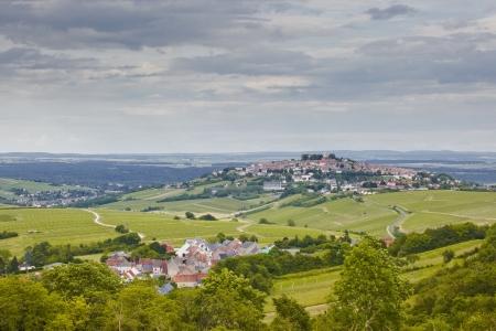 De wijngaarden van Sancerre in de Loire-vallei van Frankrijk