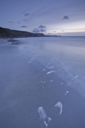 southwest: De Droes strand aan de Noord-Cornwall kustlijn in het zuidwesten van Engeland.