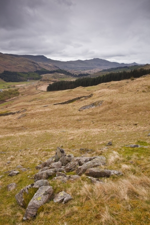 Looking down into the Duddon Valley from Hard Knott pass. Stock Photo - 14364499