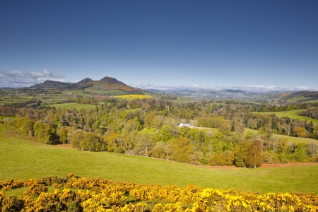 sir walter scott: Scotts view in the Scottish Borders of the United Kingdom.
