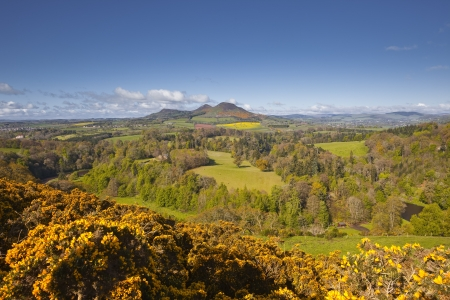 Scotts view in the Scottish Borders of the United Kingdom. photo