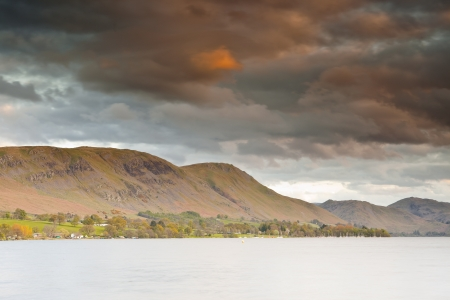 Looking across Ullswater in the Lake District National Park at dusk. Stock Photo - 14361784