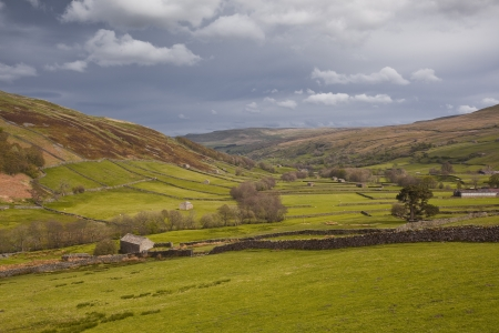 Swaledale in the Yorkshire Dales National Park  photo