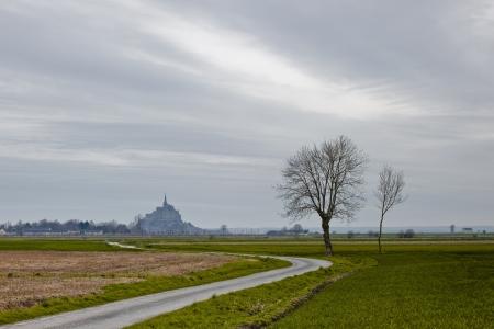 Mont Saint Michel in Normandy, France  photo