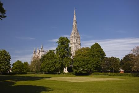 Salisbury Cathedral in Salisbury, Wiltshire.