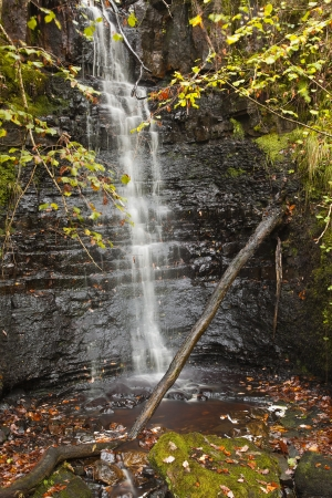 A waterfall in the brecon beacons of wales  photo