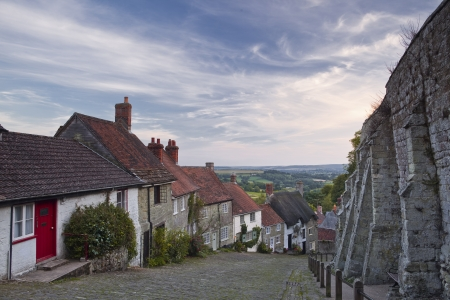 Gold Hill, Shaftesbury, Dorset, England, UK. photo