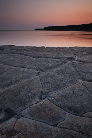 Kimmeridge Bay on the Dorset coastline. photo