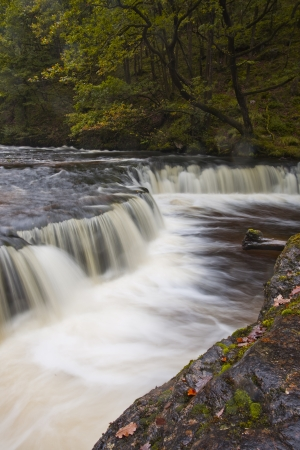 Flowing waters in waterfall country of the Brecon Beacons in Wales. photo