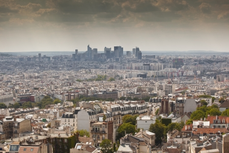 Looking across the rooftops of Paris. photo