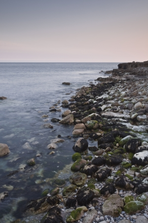 The rocky coast of Portland Bill in Dorset. photo