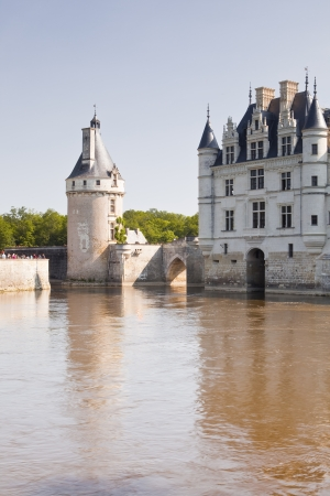 Chateau Chenonceau striding across the river Cher.